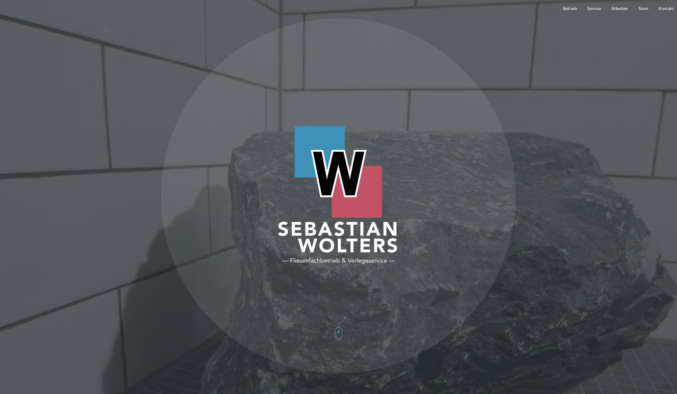 Website Fliesenleger Wolters Homepage