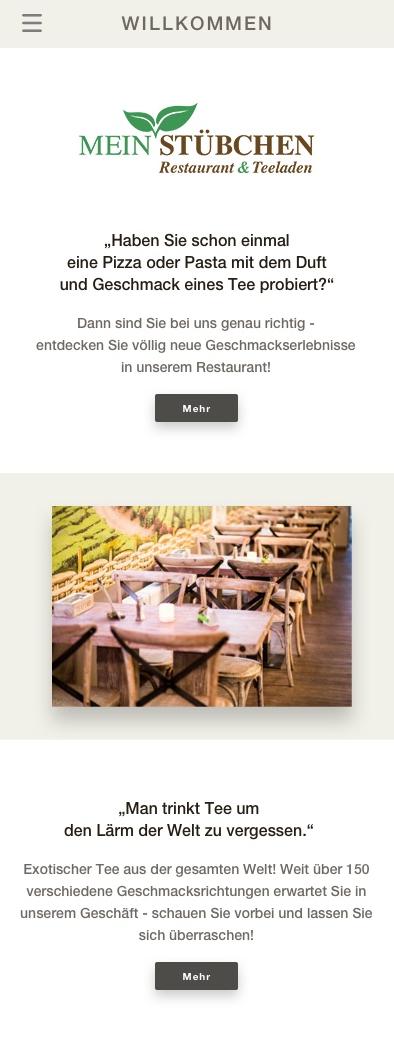 Mein Stübchen - Mobile Homepage