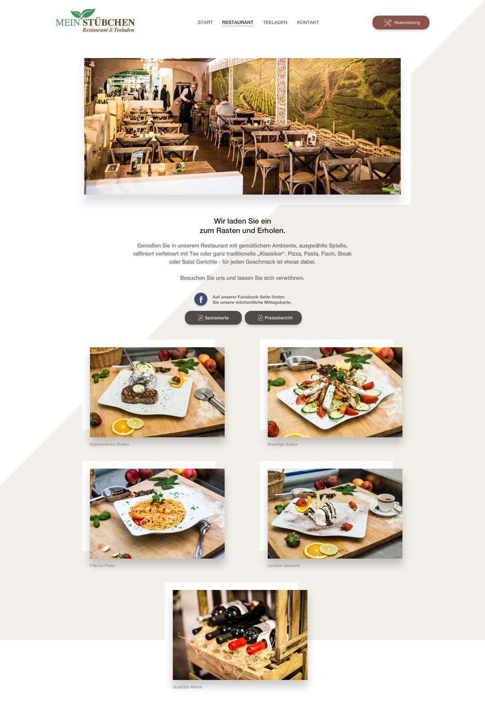 Mein Stübchen - Restaurantseite